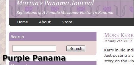 Screenshot of Purple Panama Theme